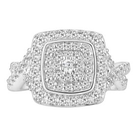 1.00 CT. T.W. Diamond Ring in 14K White Gold (I-I1)