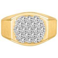 1.00 CT. TW. Men's Diamond Wedding Band in 14K Yellow Gold (I-I1)