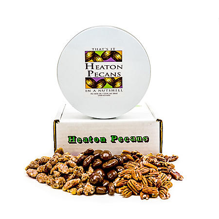 Heaton Pecans, Chocolate-Covered, Oven Roasted/ Salted, and Praline