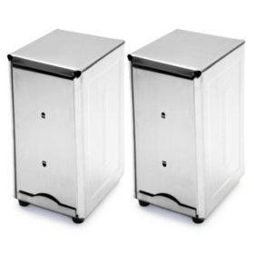 Stainless Steel Napkin Dispenser - Tall (Quanity 2)