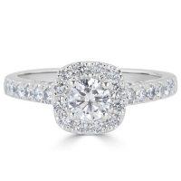 1.22 CT. T.W. Diamond Engagement Ring in 14K White Gold (H-I, I1)