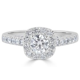 Fine Rings Engagement Rings Learned Round Diamond Solitaire Engagement Ring I1 H 1.05 Ct Prong Set 14kt Solid Gold