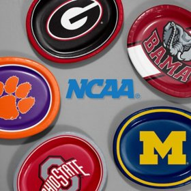 "NCAA Platter Plates 10"" x 12"" (55 ct.) - Choose Your Team"
