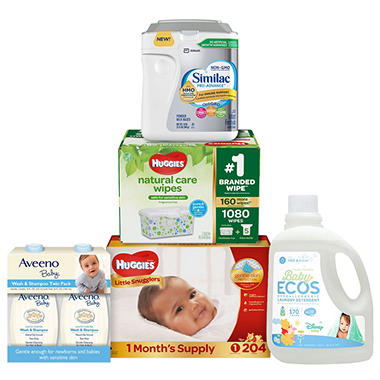 Special 5-Piece Baby Bundle with Choice of Diaper, Wipe and Formula
