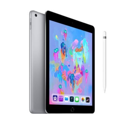 Apple iPad 6th Generation Wi-Fi 128GB with Apple Pencil (Choose Color)
