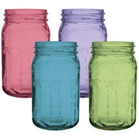 "Jardin Vintage Jar, Assorted Colors (6 1/2"", 24 ct.)"