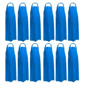 Kleen Handler Reusable Waterproof TPU Bib Apron, Blue (12pk.)