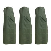 Kleen Chef Heavyweight PVC Reusable Apron for General Use and Dishwashing, Green (3pk.)