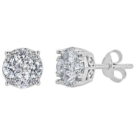 0.50 CT. T.W. Diamond Stud Earrings Set in 14K White Gold