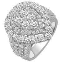 4.00 CT. T.W. Pear Shape Diamond Engagement Ring in 14k White Gold