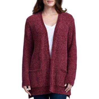 Women s Chenille Cardigan Sweater (Wine  Taupe  Black) from Sams ... aad2ebabc