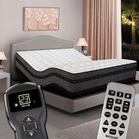 Millennium Twin XL Pillowtop Digital Air Bed and Luxury Adjustable Powerbase