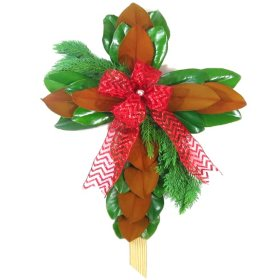 Christmas Magnolia Crosses (2 pk.)