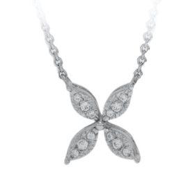0.05 CT. T.W. Diamond Pendant in 14k White Gold