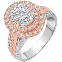 1.50 CT. T.W. Double Halo Diamond Engagement Ring in 14K Gold