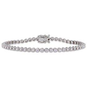 "Allura 1.63 CT. T.W. Diamond Tennis Bracelet in 14K White Gold, 7"""