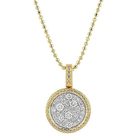 0.30 CT. T.W. Diamond Cluster Pendant in 14K Yellow Gold