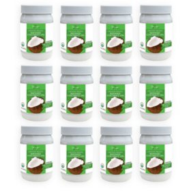 Tresomega Nutrition Organic Refined Coconut Oil (15 oz., 12 pk.)