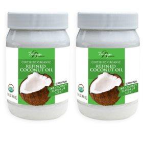 Tresomega Nutrition Organic Refined Coconut Oil (15 oz., 2 pk.)