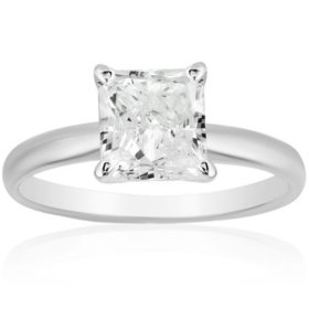 Superior Quality Collection 2 CT. T.W. Princess Shaped Diamond Solitaire Ring in 18K Gold (I, VS2)