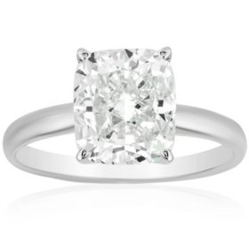 Superior Quality Collection 2 CT. T.W. Cushion Shaped Diamond Solitaire Ring in 18K Gold (I, VS2)