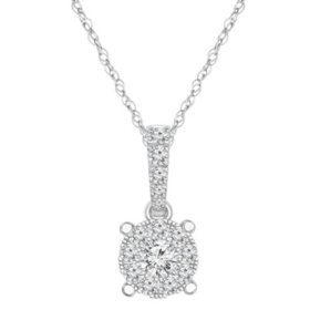 0.145 CT. T.W. Diamond Pendant in 14K Gold