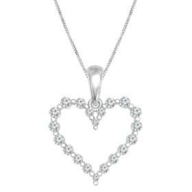 0.23 CT. T.W. Diamond Heart Pendant in 14K Gold