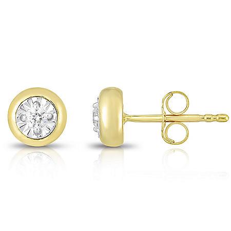 0.085 CT. T.W. Diamond Earrings in 14k Two-Tone Gold