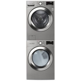 LG - WM3700HVA, DLEX3700HVA / DLGX3701HVA Ultra Large Capacity Front Load Washer and Steam Dryer Suite - (Select: Fuel Type)