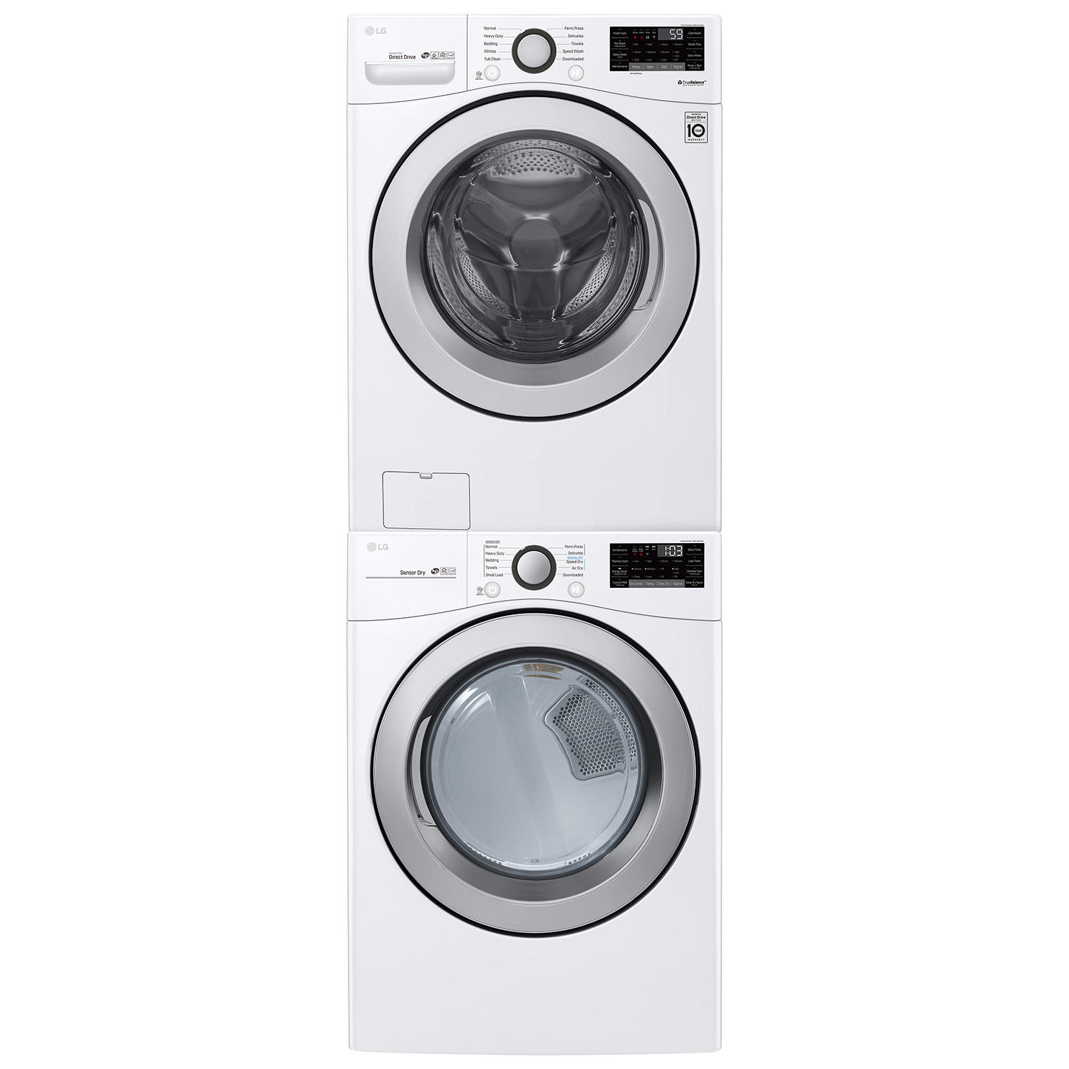 LG Large Capacity Front Load Washer and Dryer Suite