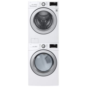 LG Stackable 4.5 cu. ft. Front Load Washer & 7.4 cu. ft. Dryer - Graphite Steel