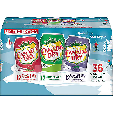 Canada Dry Winter Variety Pack (12 fl. oz., 36 pk.)