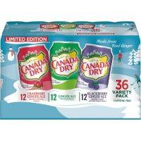 Canada Dry Winter Variety Pack (12 fl. oz., 36 pk.)