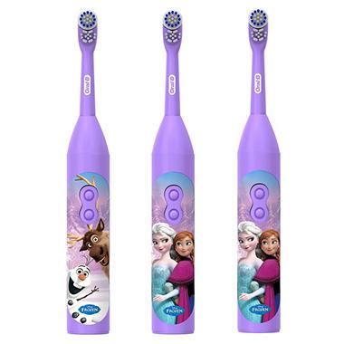 Oral-B PRO-Health Jr. Battery Toothbrush, Disney's Frozen (3 pk.)