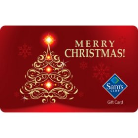 Sam's Club Red Merry Christmas Gift Cards - Various Values