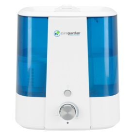 PureGuardian H1175FL Top Fill Ultrasonic Humidifier Cool Mist with Aroma Tray & Bonus Decalcification Filter, 1.5 Gallon