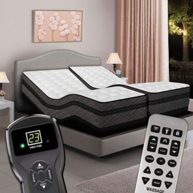 Split King Digital Millennium™ Box EuroTop Air Bed & Dual Premium Adjustable Powerbases™