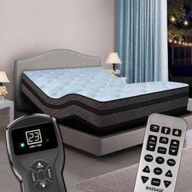 Queen Dual Digital Memories™ Ultra Hi-Profile Pillowtop Air Bed & Premium Adjustable Powerbase™