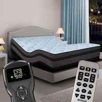 Memories Twin XL Pillowtop Digital Air Bed and Luxury Adjustable Powerbase