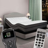 Reflections Dual Digital Queen Pillowtop Air Bed and Luxury Adjustable Powerbase