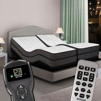 Reflections Dual Digital Split King Pillowtop Air Beds and Dual Luxury Adjustable Powerbases