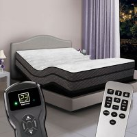 Visions Queen Digital Pillowtop Air Bed and Premium Adjustable Powerbase