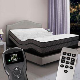 Queen Dual Digital Visions™ Premium Pillowtop Air Bed & Luxury Adjustable Powerbase™