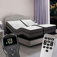 Visions Split King Pillowtop Air Beds and Dual Premium Adjustable Powerbases
