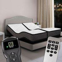 Princeton Split King Plush Top Digital Air Beds and Dual Premium Adjustable Powerbases