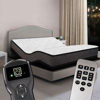 Princeton Queen Plush Top Digital Air Bed Mattress and Premium Adjustable Powerbase