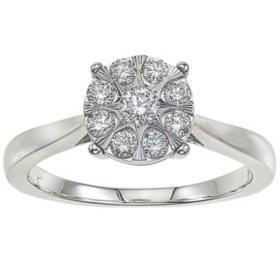 0.37 CT. T.W. Diamond Ring in 14K White Gold