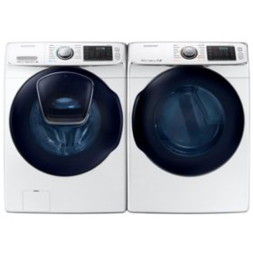 SAMSUNG AddWash Front Load Washer and Electric Dryer - WF45K6500, DV45K6500 (CHOOSE: Color, Display, Fuel Type)