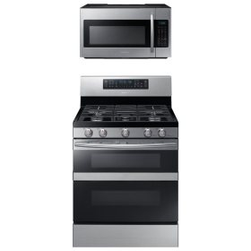 SAMSUNG Flex Duo™ Gas Range and Microwave Package - Stainless Steel - ME18H704SFS, NX58M6850SS