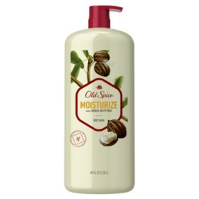 Old Spice Body Wash for Men Moisturize with Shea Butter Body Wash Scent Inspired by Nature (40 fl. oz.)